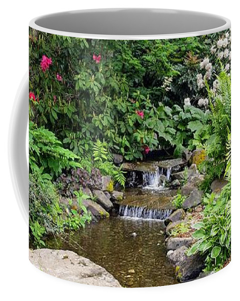 Botanical Floral Nature Coffee Mug featuring the photograph The peaceful place 3 by Valerie Josi