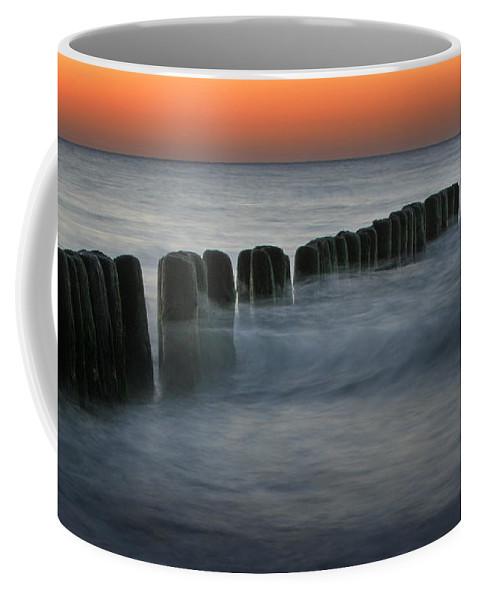 Sea Coffee Mug featuring the photograph The Peaceful Sea by Angel Ciesniarska