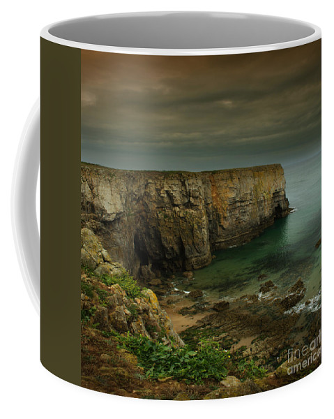 Pembrokeshire Coffee Mug featuring the photograph The Pembrokeshire Cliffs by Angel Ciesniarska