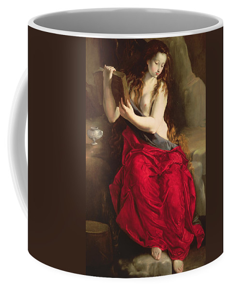 Mary Magdalene Coffee Mug featuring the painting The Penitent Magdalen by Spanish School