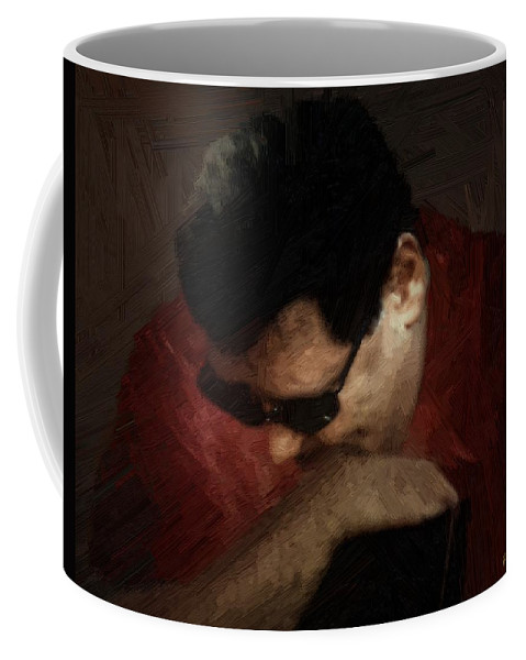 Portrait Coffee Mug featuring the painting The Penitent by RC DeWinter