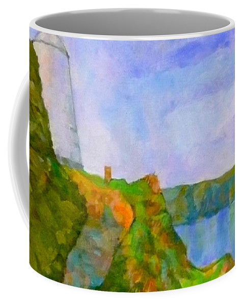 Pepper Pot Portreath Cornwall Coffee Mug featuring the digital art The Pepper Pot by Scott Waters