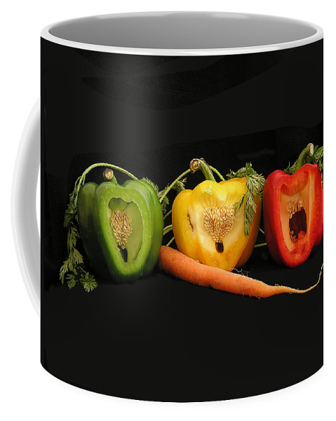 Pepper Coffee Mug featuring the photograph The Pepper Trio by Carol Milisen