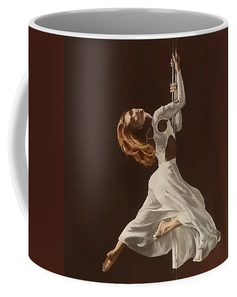 Painting Coffee Mug featuring the painting The Performance by Sheryl Gallant