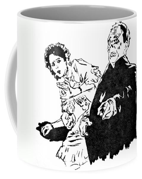 Lon Chaney Sr Coffee Mug featuring the painting The Phantom Of The Opera by Bryan Bustard