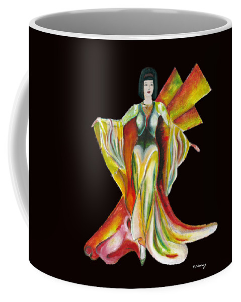Dresses Coffee Mug featuring the painting The Phoenix 2 by Tom Conway