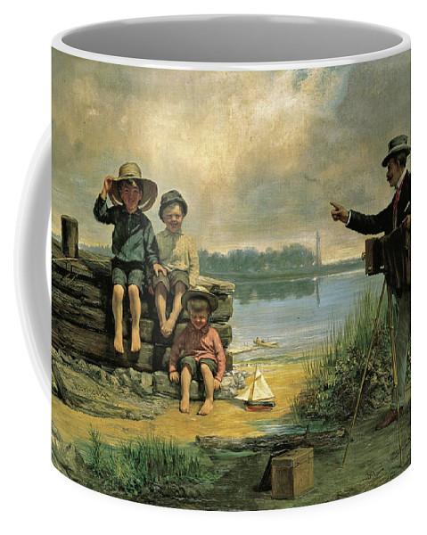 Alfred Boisseau Coffee Mug featuring the painting The Photographer by Alfred Boisseau