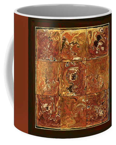 Abstract Coffee Mug featuring the digital art The Pieces by Rabi Khan