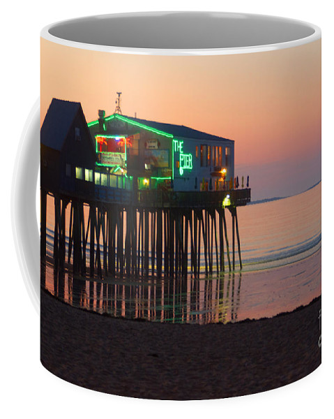 Pier Coffee Mug featuring the photograph The Pier by Ray Konopaske