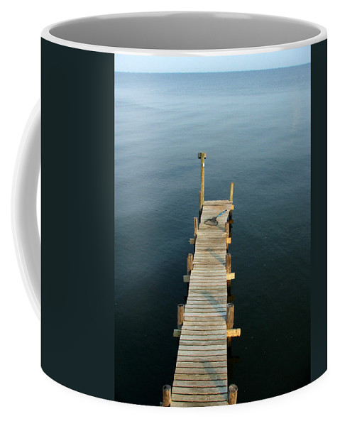 Pier Coffee Mug featuring the photograph The Pier by Robert Meanor