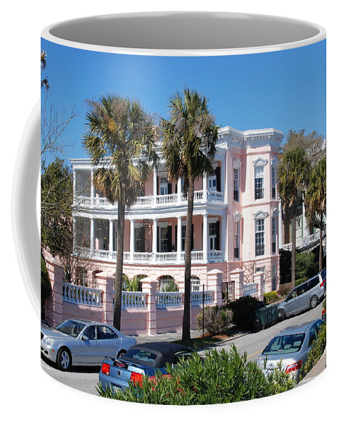 Photography Coffee Mug featuring the photograph The Pink Battery House by Susanne Van Hulst