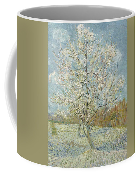 Coffee Mug featuring the painting The Pink Peach Tree Arles, April - May 1888 Vincent Van Gogh 1853 1890 by Artistic Panda