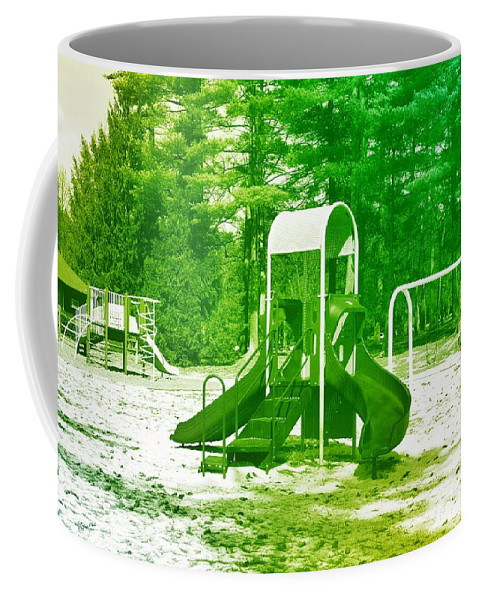 Playgrounds Coffee Mug featuring the photograph The Playground I - Ocean County Park by Angie Tirado