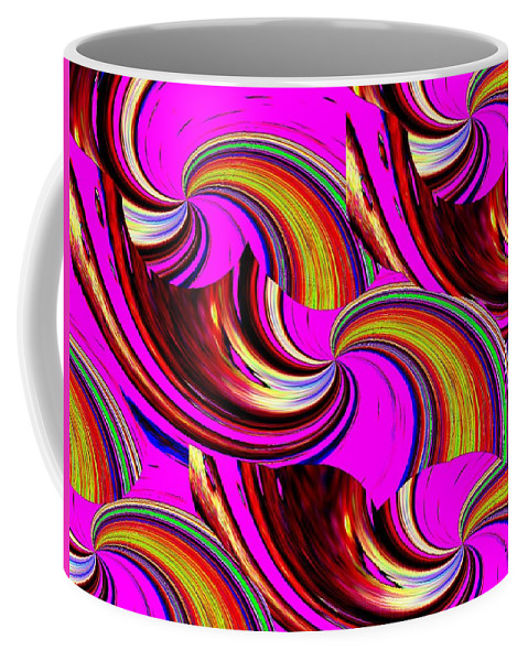 Abstract Coffee Mug featuring the digital art The Point Is by Tim Allen