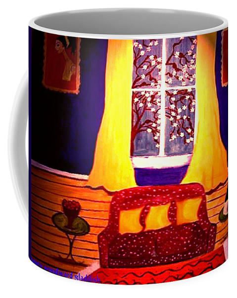 Still Life Coffee Mug featuring the painting The Polka Dot Sofa by Rusty Gladdish