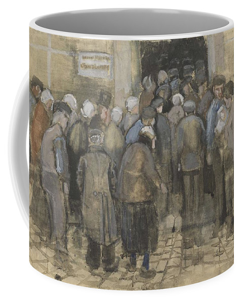 Man Coffee Mug featuring the painting The Poor And Money The Hague, September - October 1882 Vincent Van Gogh 1853 1890 by Artistic Panda