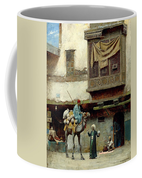 Charles Sprague Pearce Coffee Mug featuring the digital art The Pottery Seller In Old City by Mark Carlson