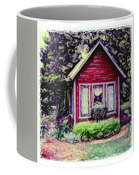 Sx-70 Coffee Mug featuring the photograph The Potting Shed by Mykel Davis