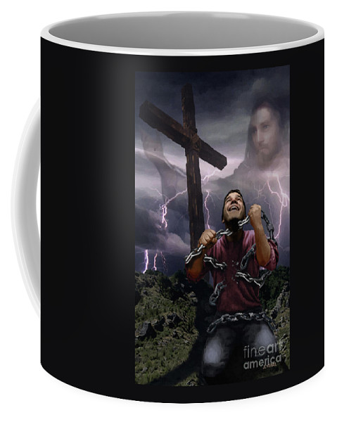 Canvas Prints Coffee Mug featuring the digital art The Power Of Christ by Joseph Juvenal