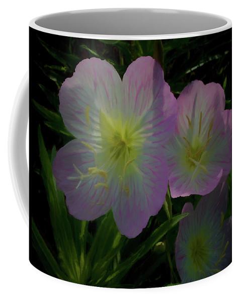 Flowers Coffee Mug featuring the digital art The Primroses by Ernie Echols