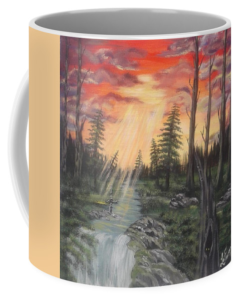 Paradise Coffee Mug featuring the painting The Promise by Lori Lafevers