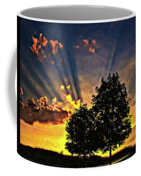 Sunset Coffee Mug featuring the photograph The Promise Oil by Steve Harrington