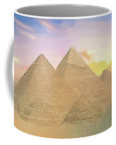 Egypt Coffee Mug featuring the photograph The Pyramids Of Giza 2 by Roy Pedersen