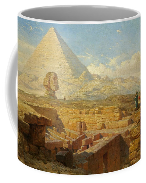 Pyramid Coffee Mug featuring the painting The Pyramids by William James Muller