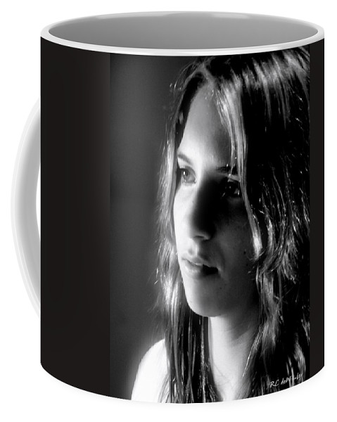 Young Woman Coffee Mug featuring the photograph The Question by RC DeWinter