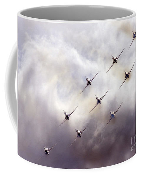 Red Arrows Coffee Mug featuring the photograph The Quicksilver by Angel Tarantella