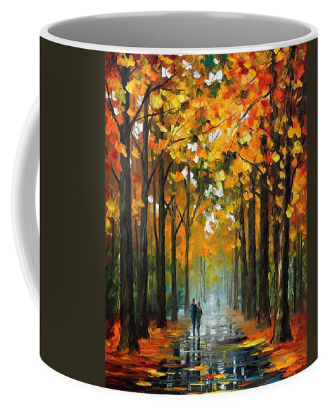 Afremov Coffee Mug featuring the painting The Rain Is Gone by Leonid Afremov