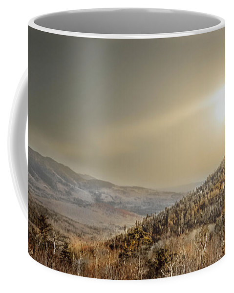 Scene Coffee Mug featuring the photograph The Range, White Mountains by Debra Forand