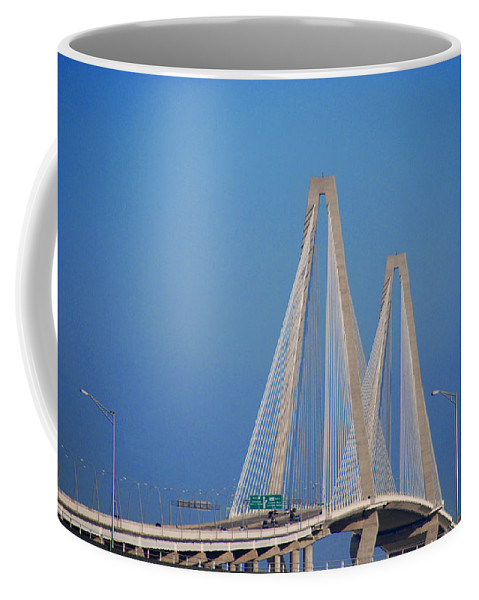 Photography Coffee Mug featuring the photograph The Ravanel Bridge In Charleston by Susanne Van Hulst