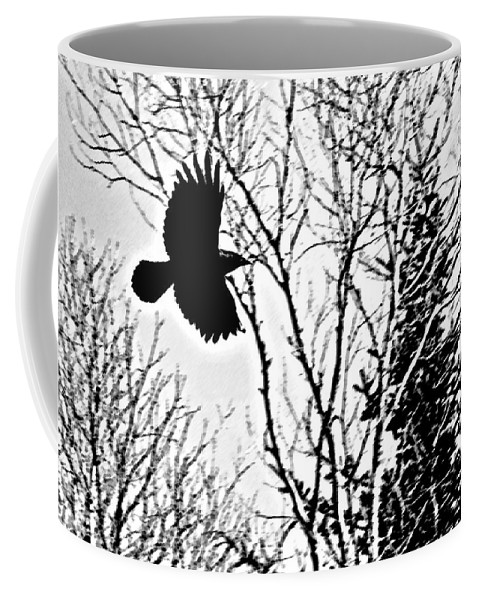 Bird Coffee Mug featuring the photograph The Raven by Jeff Galbraith