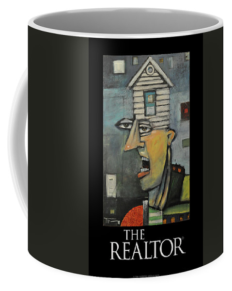 Realtor Coffee Mug featuring the painting The Realtor Poster by Tim Nyberg