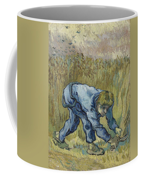 Art Coffee Mug featuring the painting The Reaper After Millet Saint Remy De Provence, September 1889 Vincent Van Gogh 1853 1890 by Artistic Panda