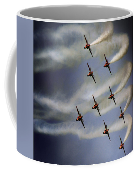 Red Arrows Coffee Mug featuring the photograph The Red Arrows by Angel Tarantella