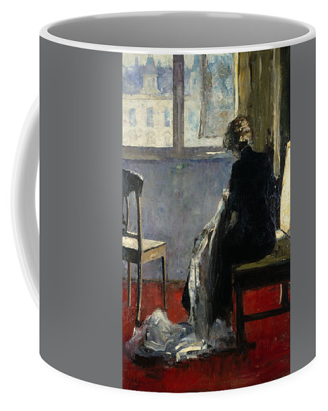 German Art Coffee Mug featuring the painting The Red Carpet by Lesser Ury