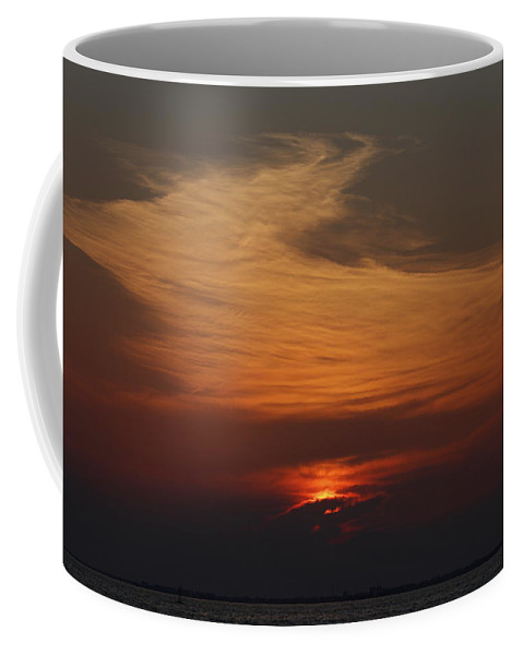 Sunset Colors Sea Clouds Deer Red Coffee Mug featuring the photograph The Red Deer by Konstantinos Nedos