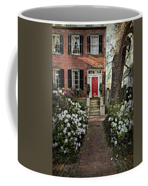 House Coffee Mug featuring the photograph The Red Door - 2 by Kim Hojnacki