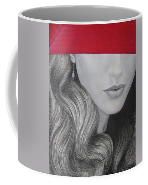 Woman Coffee Mug featuring the painting The Red Umbrella by Lynet McDonald