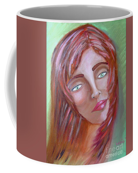 Redheads Coffee Mug featuring the painting The Redhead by Laurie Morgan
