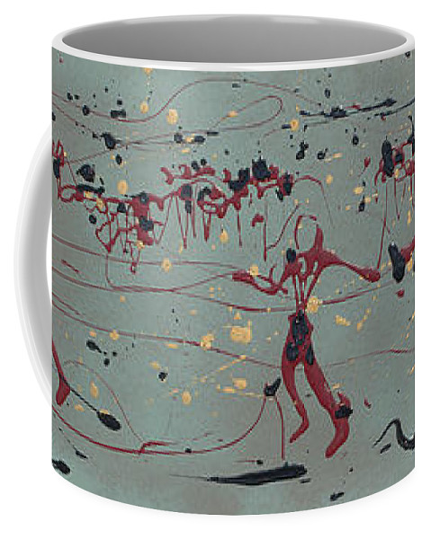 Abstract Art Coffee Mug featuring the painting The Relay Race by J R Seymour