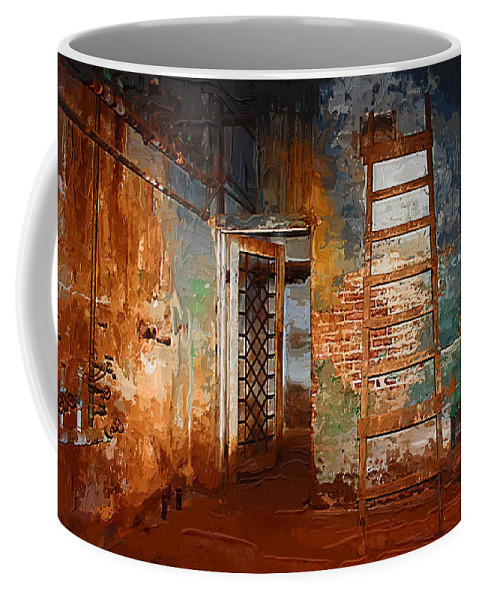 Preston+castle Coffee Mug featuring the painting The Renovation by Holly Ethan