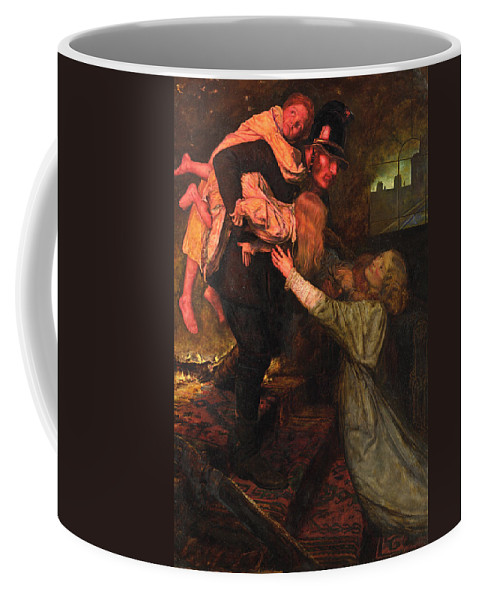 19th Century English Painters Coffee Mug featuring the painting The Rescue by John Everett Millais