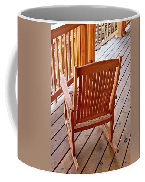 Chair Coffee Mug featuring the photograph The Resting Place by Laddie Halupa