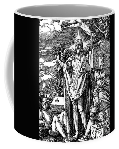 Resurrection Coffee Mug featuring the drawing The Resurrection, From The Small Passion by Albrecht Durer