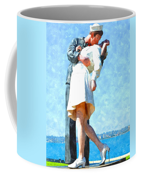 San Diego Coffee Mug featuring the photograph The Return by Image Takers Photography LLC - Laura Morgan