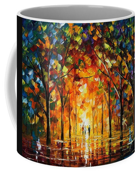 Afremov Coffee Mug featuring the painting The Return Of The Sun by Leonid Afremov