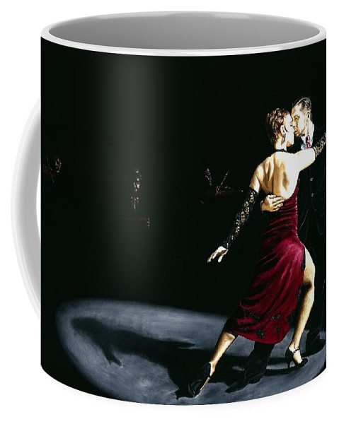 Tango Coffee Mug featuring the painting The Rhythm Of Tango by Richard Young